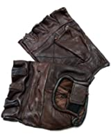 Perrini Brown Finger Less Gloves
