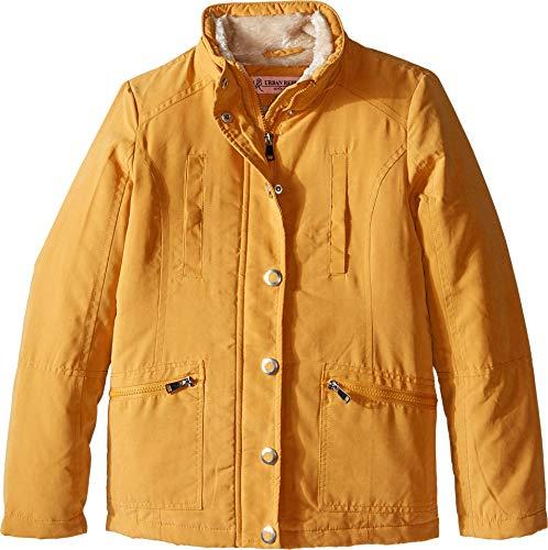 Urban Republic Girls Little Microfibre Hooded Jacket, Dijon Yellow, 5/6