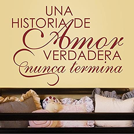 Amazon.com: Spanish Vinyl Espanol wall decal-¡Una Historia De Amor ...