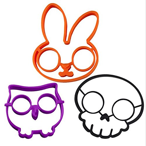 3Pcs Rabbit Owl Skull Silicone Egg Mold Ring Cooking Tools Fried Egg Kitchen Gadgets Cheapest Price