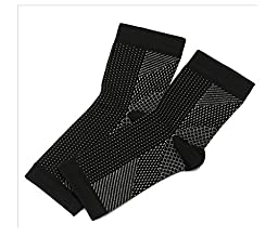 ONE PAIR OF TWO: Plantar Fasciitis Socks with Arch Support, Foot Care Compression Sleeve, Eases Swelling and Heel Spurs, Ankle Brace Support, Increases Circulation, Relieve Pain Fast (L/XL, Black)