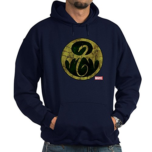 CafePress Iron Fist Icon Distressed Pullover Hoodie, Classic & Comfortable Hooded Sweatshirt Navy
