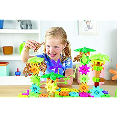 Learning Resources Gears! Gears! Gears! Movin' Monkeys Building Play Set, 103 Pieces: Toys & Games