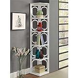 Convenience Concepts Omega 5-Tier Corner Bookcase, White