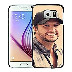 Unique Samsung Galaxy S6 Screen Case ,Popular And Durable Designed Case With Luke Bryan Black For Samsung Galaxy S6 Phone Case Great Quality Cover Case