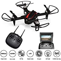 ElementDigital MJX FPV RC Drone Kit Bugs 3 Mini 720P 5.8G Camera 2.4G 6-Axis Gyro Brushless Motor, Quadcopter Toy for Kids, Beginners, Adults, Angle/Acro, 3DFlips, Double Alarm, Drone Guard