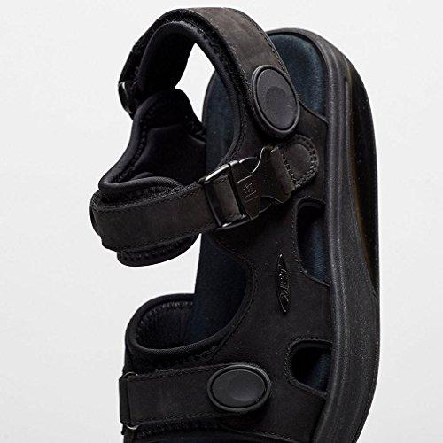 700823 Nubuck W Sandalias Black Equilibrio Classic Zapato Suela de MBT señora Kisumu Curva Vestir Mujer Aq4waAfd