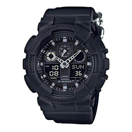 G-shock Ana Digi (Casio G-shock Ana Digi Black Men's Watch, 200 Meter Water Resistant with Day AND Date GA-100BBN-1A)