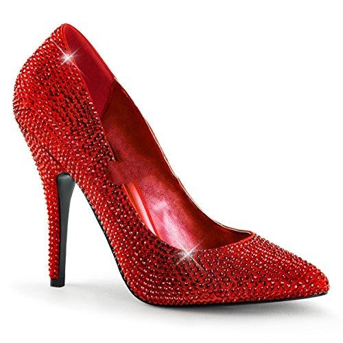 Pleaser - Zapatos de vestir de satén para mujer Rot