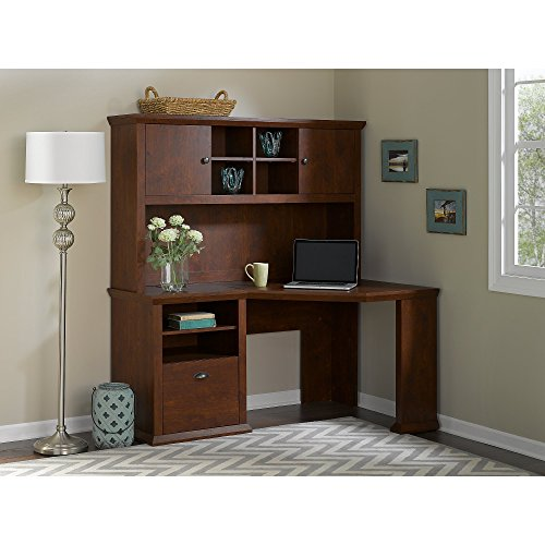 Yorktown Corner Desk with Hutch by Bush Furniture