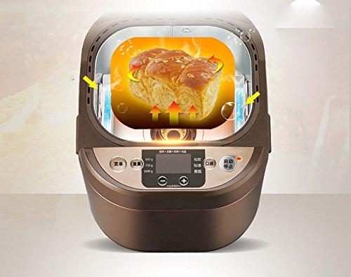 GCCI Hogar de la Máquina Del Pan con la Máquina Automática Automática Multi-functional Del Pan Y Del Pan, marrón: Amazon.es
