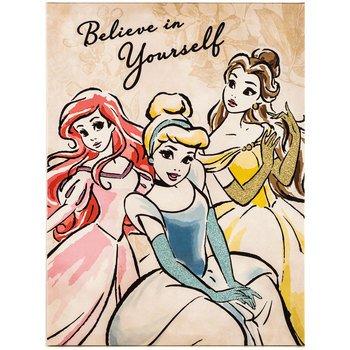 Amazon.com : Believe in Yourself Disney Princess Canvas Wall Art ...