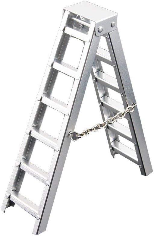 DGdolph 1/10 Accesorio de Escalera Corta de Oruga de RC para Coche simulado para Axial Scx10 Silver: Amazon.es: Hogar