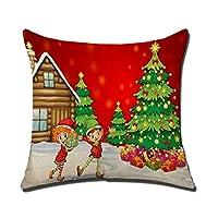 Merry Christmas Decoration Noel Voitureré De Noël Taie d'oreiller Accueil Voitures Décor Canapé Housse De Coussin Deco Noel