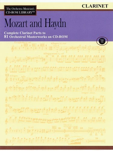 Orchestra Musician's CD-ROM Library Volume 6 Clarinet Mozart And Haydn by Various (2006-06-01) Clarinet Orchestra Musicians Cd Rom