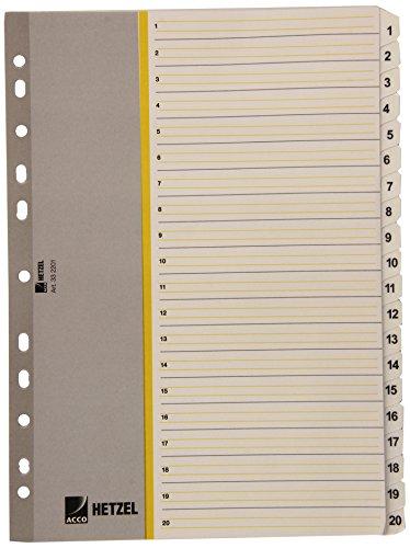 Acco Hetzel Register 332201-, Rolle, weiß, Paket (10Stück)