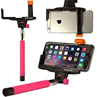 Selfie Stick OPTIKAL SelfiePAL Wireless Bluetooth Remote Shutter Stick with Mount Clamp for Various Devices (iPhone 6 6 Plus 5 5S Note 4 3 HTC One) - Pink