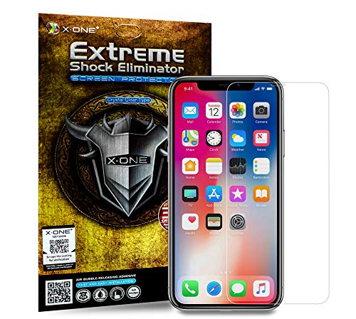 The World's Toughest Screen Protector Compatible with iPhone, X·ONE Extreme Shock Eliminator, fits iPhone X Xs