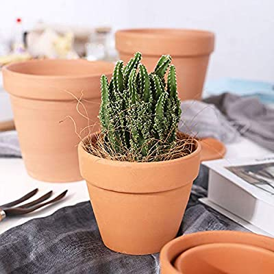 28pcs Small Mini Clay Pots, 2.5'' Terracotta Pot Clay Ceramic Pottery Planter, Cactus Flower Terra Cotta Pots, Succulent Nursery Pots, with Drainage Hole, for Indoor/Outdoor Plants, Crafts: Garden & Outdoor