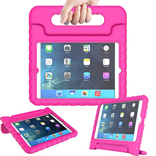 AVAWO Kids Case for iPad Mini 1 2 3 - Light Weight Shock Proof Handle Stand Kids for iPad Mini, iPad Mini 3rd Generation, iPad Mini 2 with Retina Display - Rose (Best Kid Proof Ipad Case)