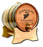 Personalized Wine Grapes 20 Liter White Oak Barrel