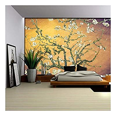 Smeared Yellow and Purple Almond Blossom by Vincent Van Gogh - Wall Mural, Removable Sticker, Home Decor - 66x96 inches
