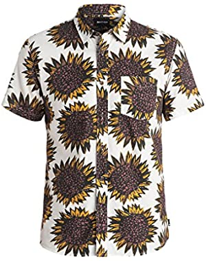 Mens Let It Burn Button Up Short-Sleeve Shirt