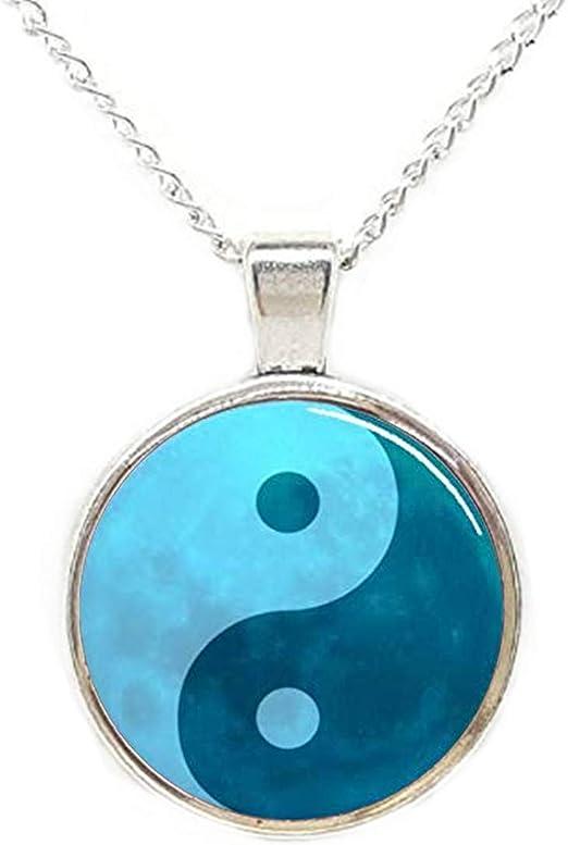 YaoX Awkward Chinese Character Necklaces Pendant Retro Moon Stars Jewelry