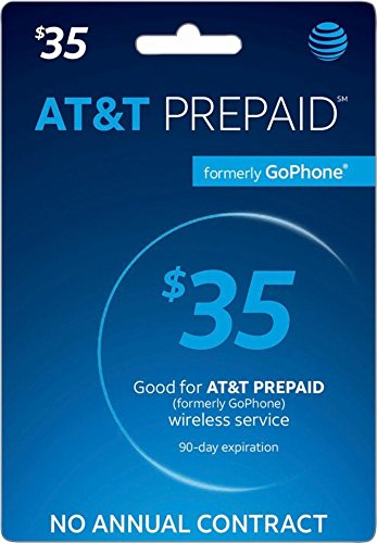 AT&T Prepaid Card $35 - AT&T Prepaid Refill Top-Up Card $35 by AT&T Prepaid