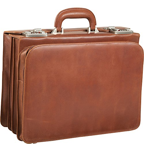 AmeriLeather APC Attache Leather Executive Briefcase (Brown) - Leather Apc Case
