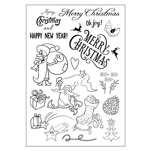 Original Merry Christmas Clear Stamps For DIY Scrapbooking Decoration Card Making Supplies (Cards Merry Making Christmas)