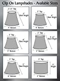 "Aspen Creative 32109-6 6"" Bottom Width Transitional Design Small Hardback Empire Shape Chandelier Clip-On Lamp Shade Set (6 Pack), 3"" x 6"" x 5"", Eggshell"