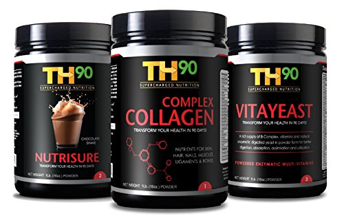 TH90 Kit - Chocolate + Collagen + Brewer's Yeast - 1Lb. (16OZ) Nutrition Shake