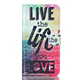 Note 5 Case, Firefish Colorful Premium Slim PU Leather Wallet Case [Kickstand] Flip Protective Cover with Card Slots for Samsung Galaxy Note 5 (Not for Note 5 edge) + One Unique Stylus -Life