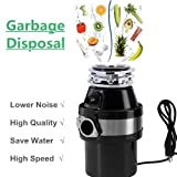 Appliances : JAXPETY Kitchen Food Waste Garbage Disposal Continuous Feed Home w/Plug 4100 RPM