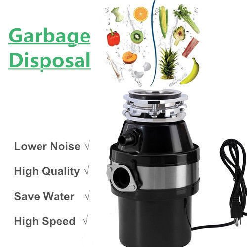 JAXPETY Kitchen Food Waste Garbage Disposal Continuous Feed Home w/Plug 4100 (4100 Feed)