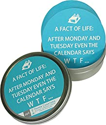 Fact of Life: After Monday Even the Calendar Says WTF Set of 12 Boxed Coasters