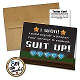 Groomsman Proposal Card 5 Pack | Gamer Wedding Engagement | Best Man Card, Ring Bearer, Kraft Envelopes