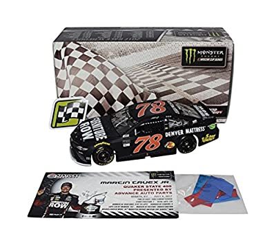 AUTOGRAPHED 2017 Martin Truex Jr. #78 Furniture Row KENTUCKY SPEEDWAY WIN (Raced Version with Confetti) Monster Signed Lionel 1/24 Scale NASCAR Diecast Car with COA (#013 of only 192 produced!)