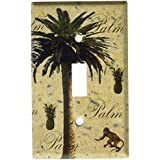 Low Price Art Plates Palm Tree Switch Plate Single Toggle