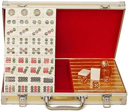 Juegos de Mesa Mahjong Hand Rub Mahjong Marca Cristal De Seda De Oro For El Hogar