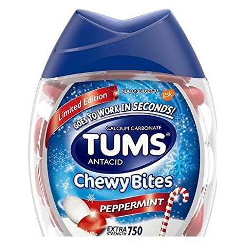 (Peppermint Tums Antacid Chewy Bites, Limited Edition Peppermint, 60 Chewable Tablets (Pack of 2))