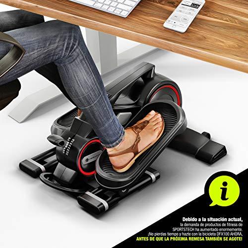 ¡Novedad de feria 2020! Mini bicicleta estatica con app, Stepper DFX100 - Eliptica para ejercicio en oficina & casa, salud laboral, no necesario escritorio ajustable en altura - Maquina de piernas