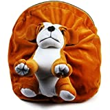 Richy Toys Dog Cute Teddy Soft Toy School Bag for Kids, Travelling Bag, Carry Bag, Picnic Bag, Teddy Bag