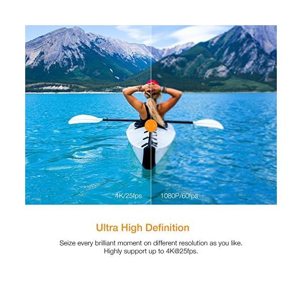APEMAN Action Cam A77, 4K 20MP Wi-Fi Impermeabile 30M con Telecomando Fotocamera Subacquea Digitale, Hyper… 3 spesavip