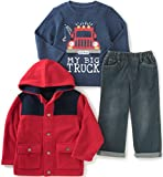 Kids Headquarters Baby Boys' 3 Pieces Jacket Set with Jeans Set