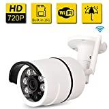 Cheap Bullet IP Camera Outdoor -SDETER Waterproof 720P HD Home Security Surveillance (Easy Setup, Built-in 16G Memory Card, Remote View Via Smart Phone/Tablet/PC, Plug/Play, Night Vision, Alarm)