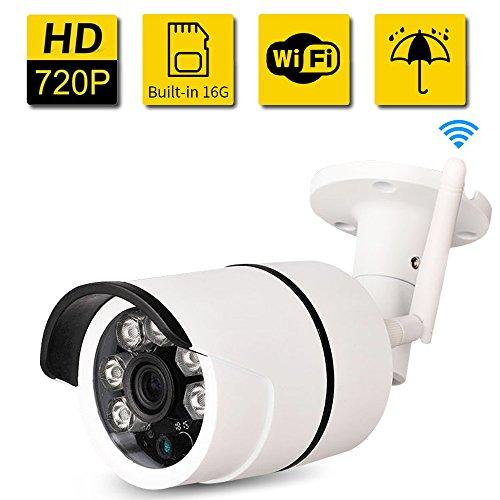Buy cheap bullet camera outdoor sdeter waterproof 720p home security surveillance easy setup built 16g memory card
