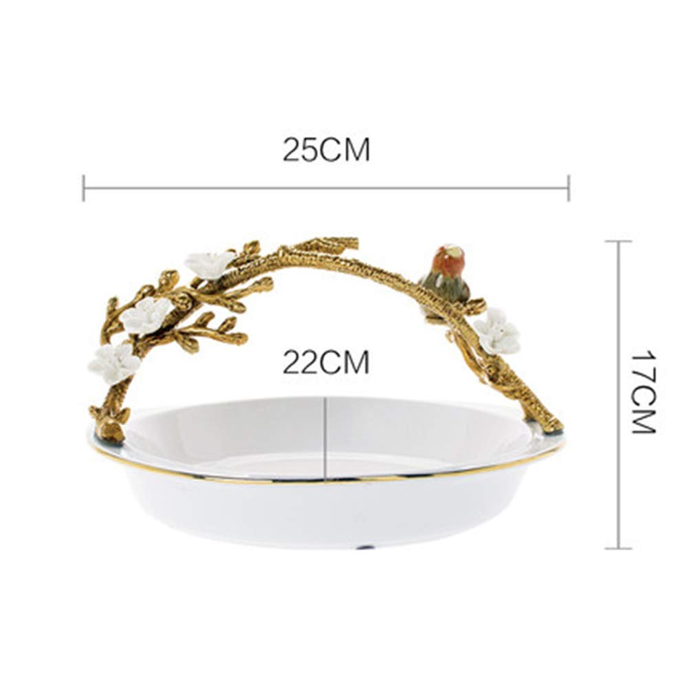 KDJHP フルーツバスケットヨーロッパのフルーツプレートクリエイティブセラミックポーチフルーツディッシュフルーツトレイコンポート -フルーツバスケット (色 : A)  A B07PG4295C