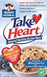 Quaker Instant Oatmeal Take Heart Blueberry, 8-Count Boxes (Pack of 4)